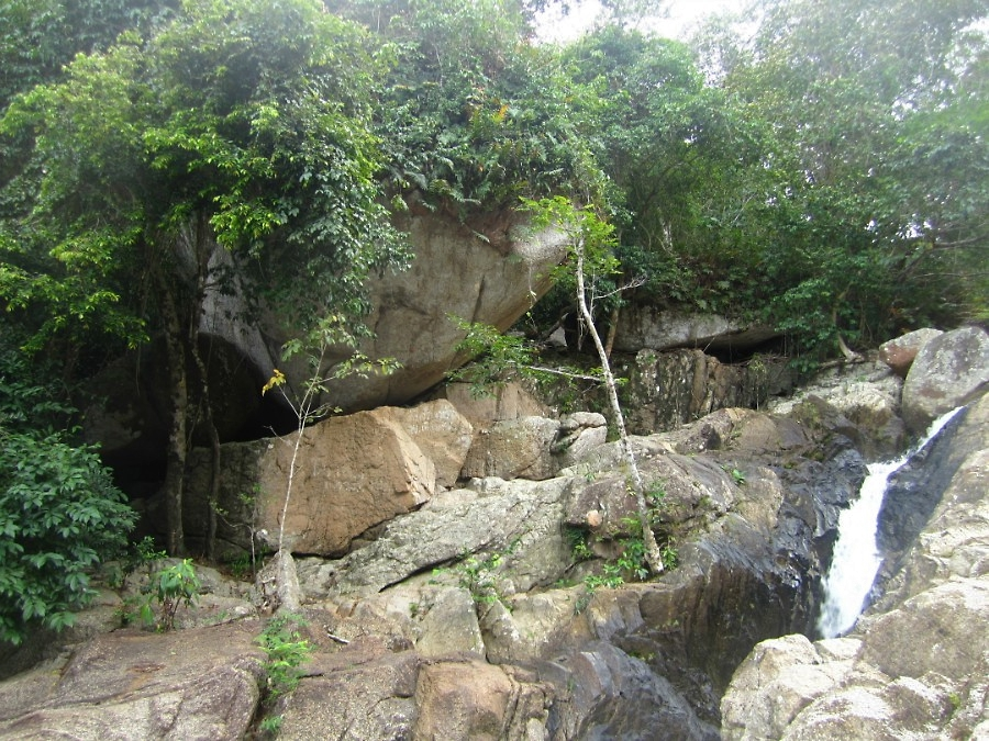 Прыжки в водопад на острове Панган