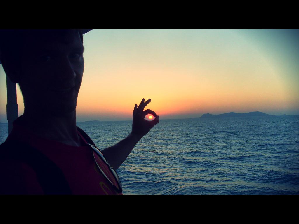 закат в море возле Самуи