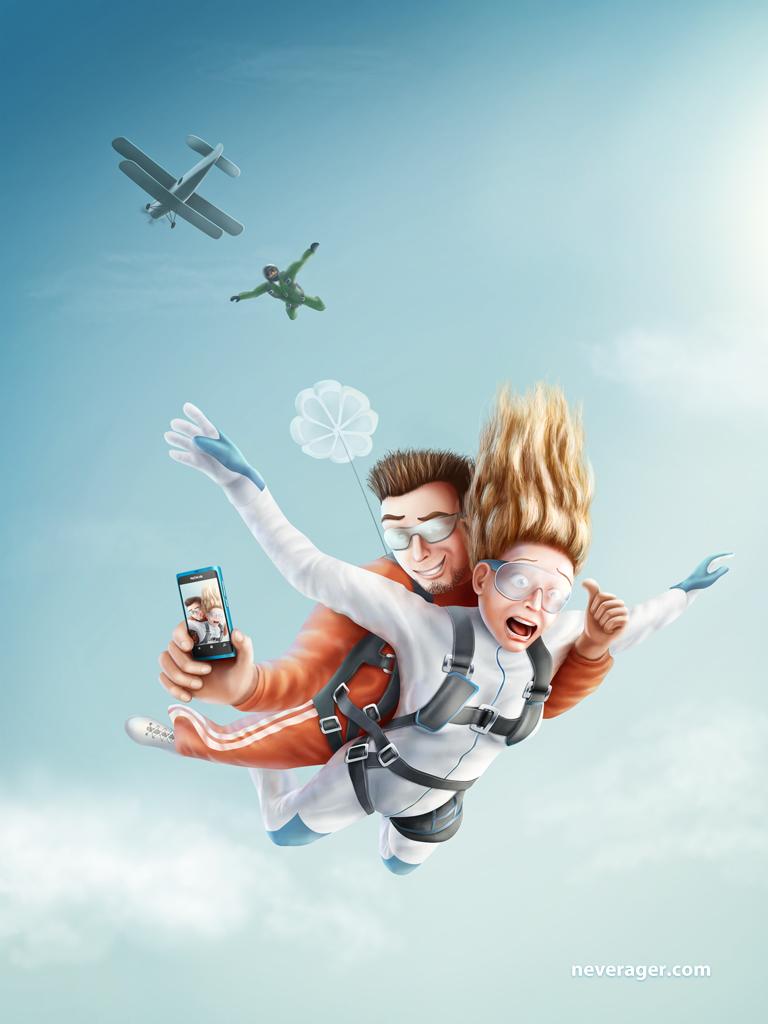Четверка: прыжки с парашютом в Литве (Поцюняй)