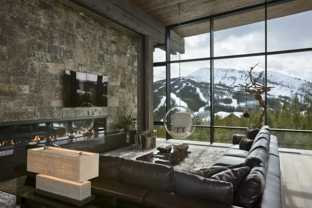 кофе горы и камин