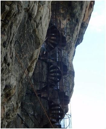 сигирия фрагмент лестницы