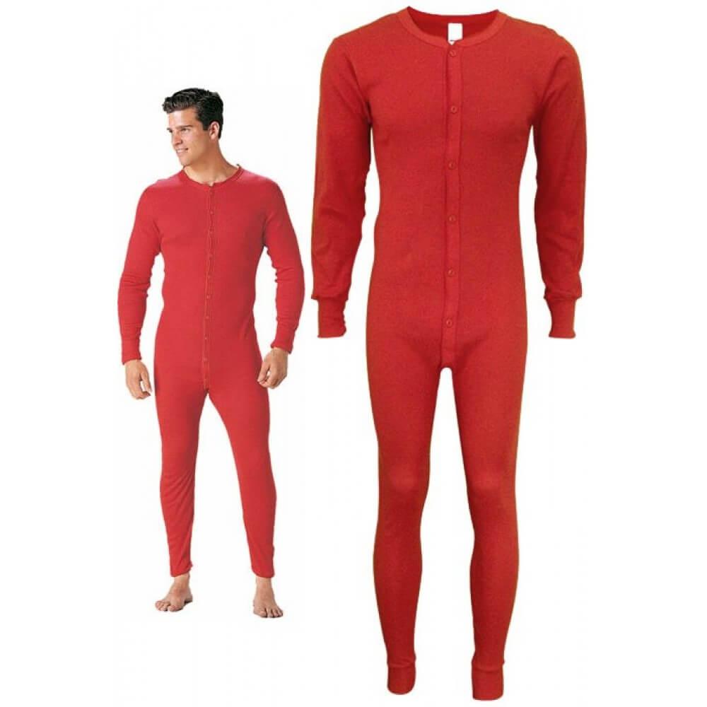 red-union-suit