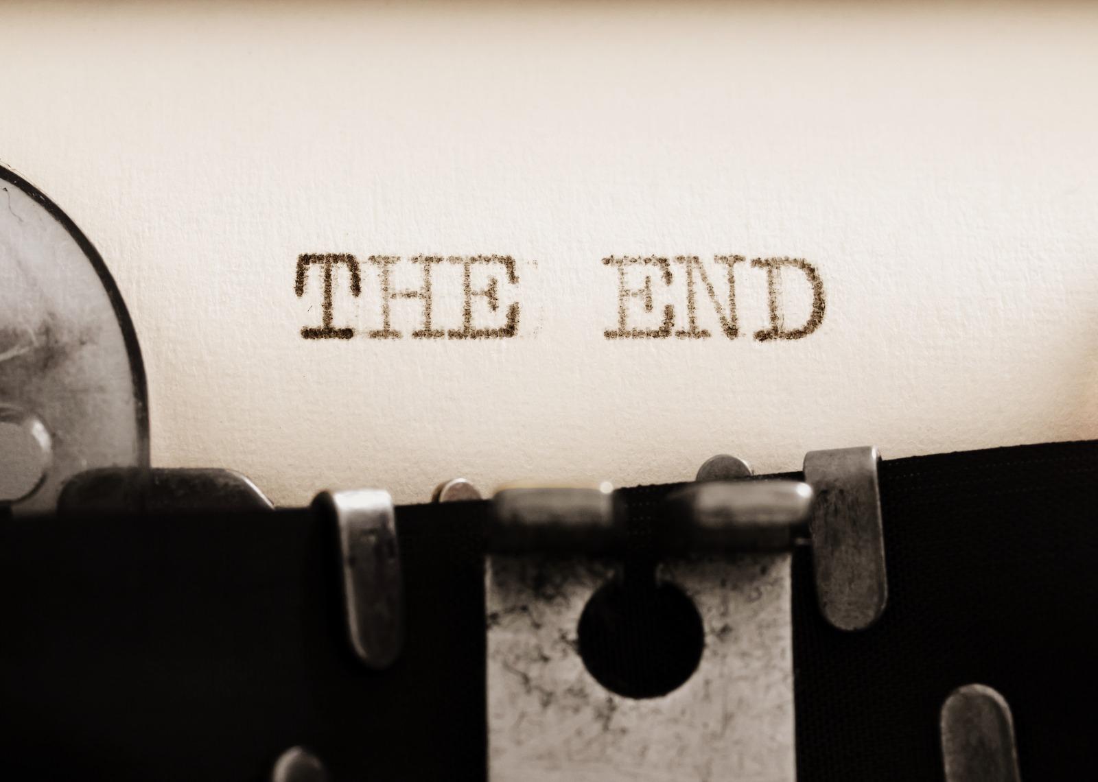 конец печатная машинка