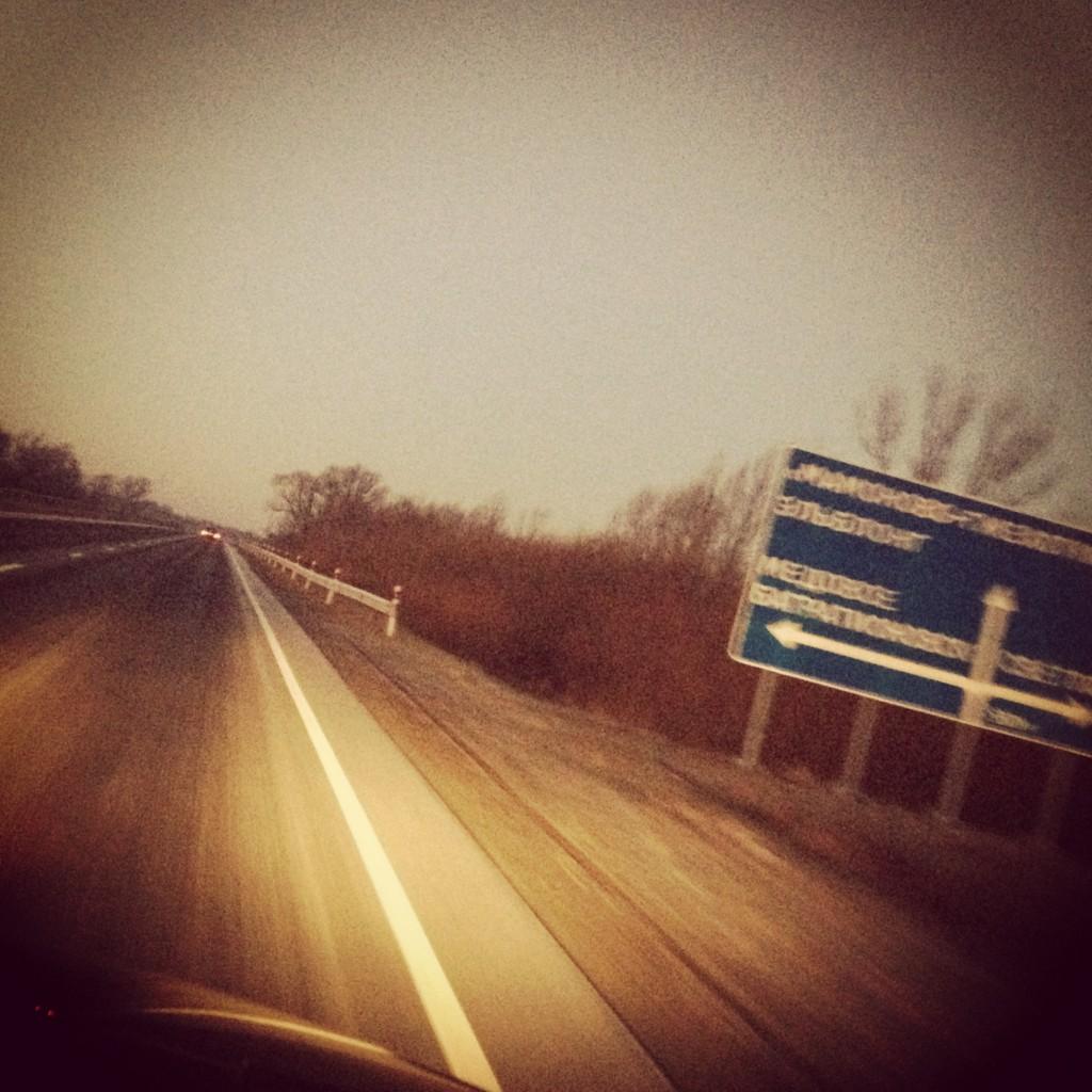 по дороге на границу Калининградской области