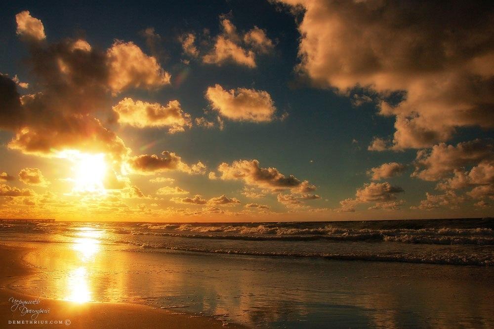 закат на Балтийском море