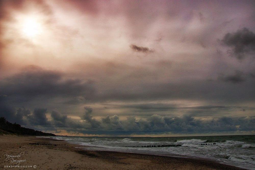 побережье Балтийского моря в Калининградской области