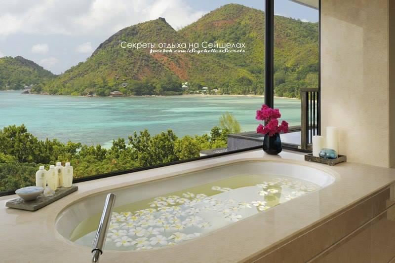 ванна с видом на океан сейшелы