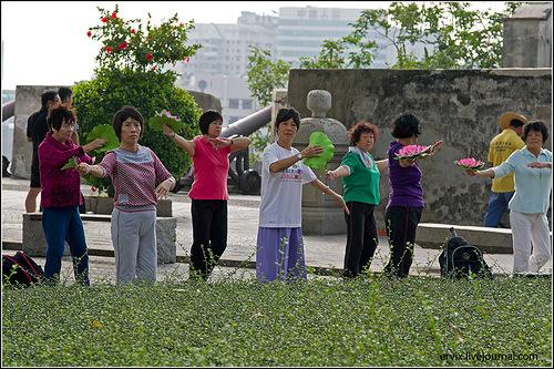Группа пенсионеров