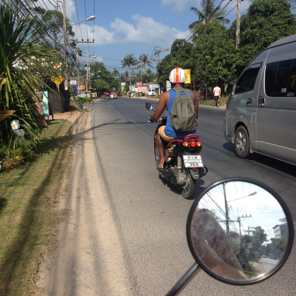 дорога на острове Самуи