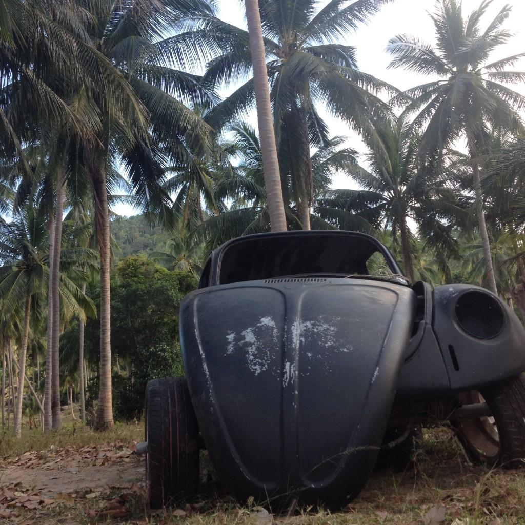 фольксваген жук и пальмы