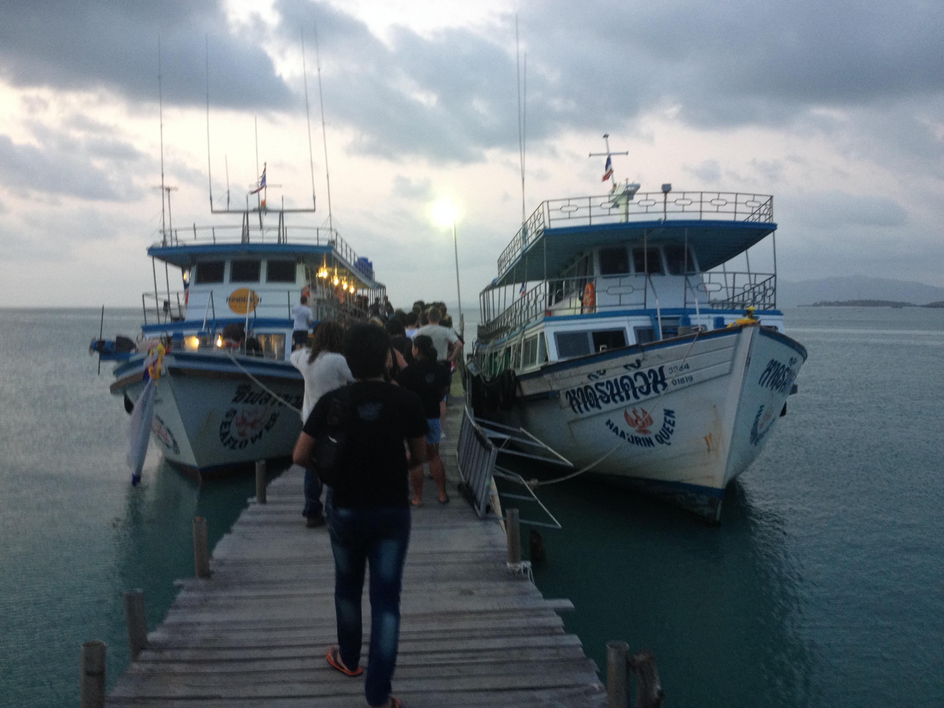 пристань Big Budda Pier откуда уходит паром с Самуи на Панган