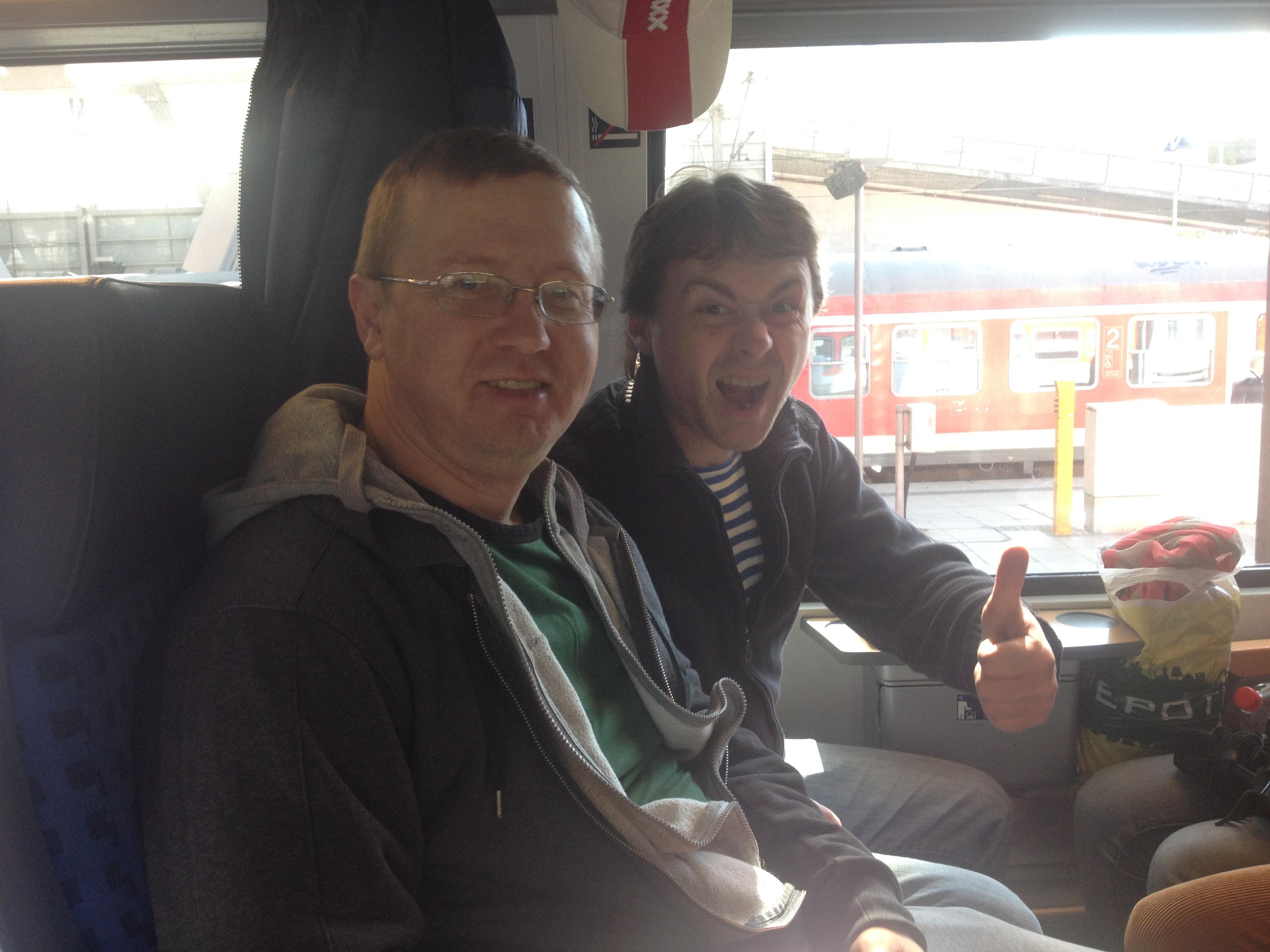 в поезде на Гамбург