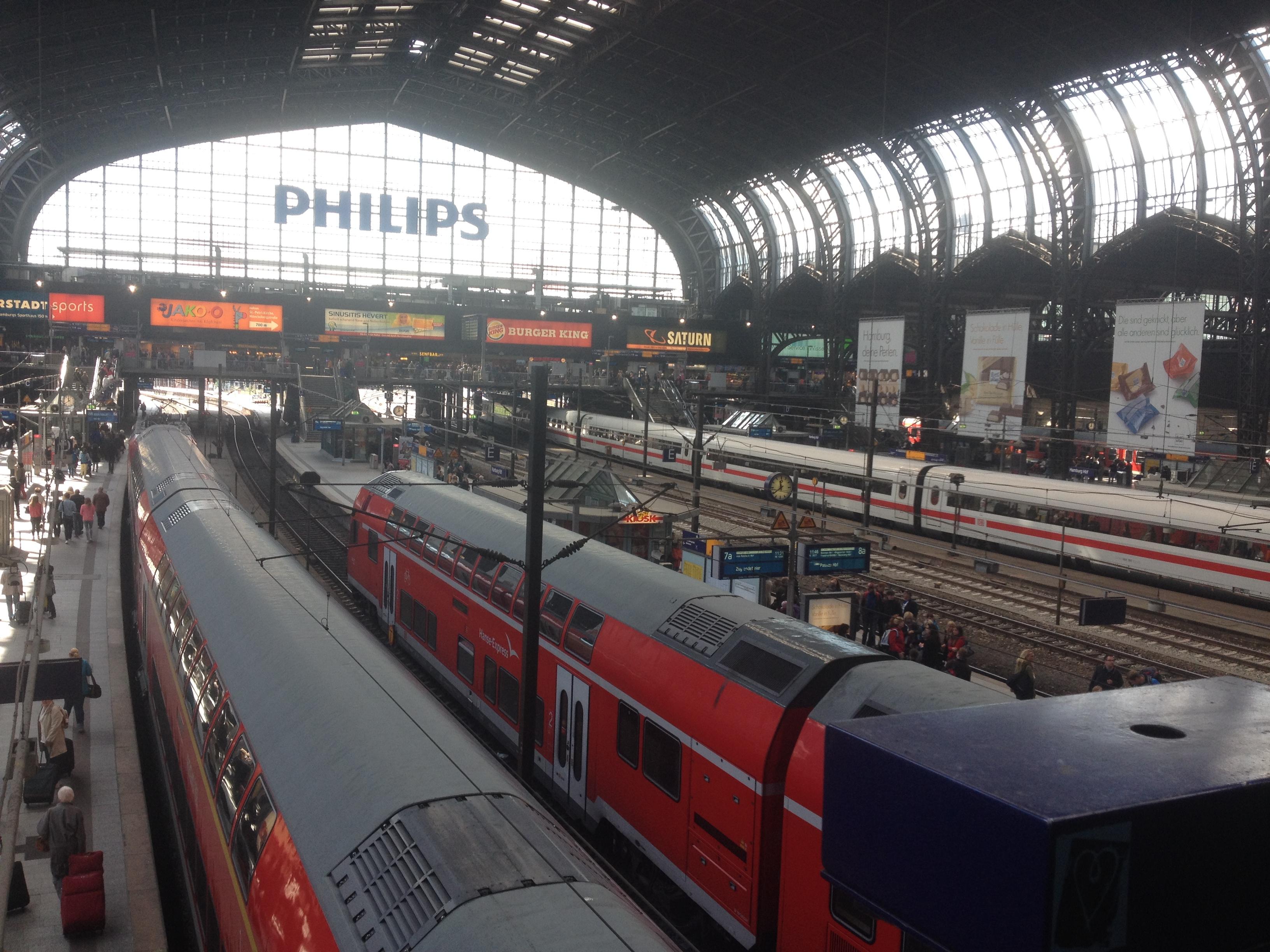жд вокзал в Гамбурге