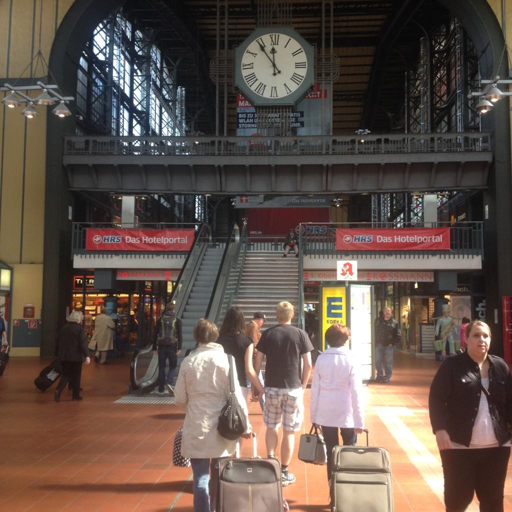 железнодорожный вокзал в Гамбурге