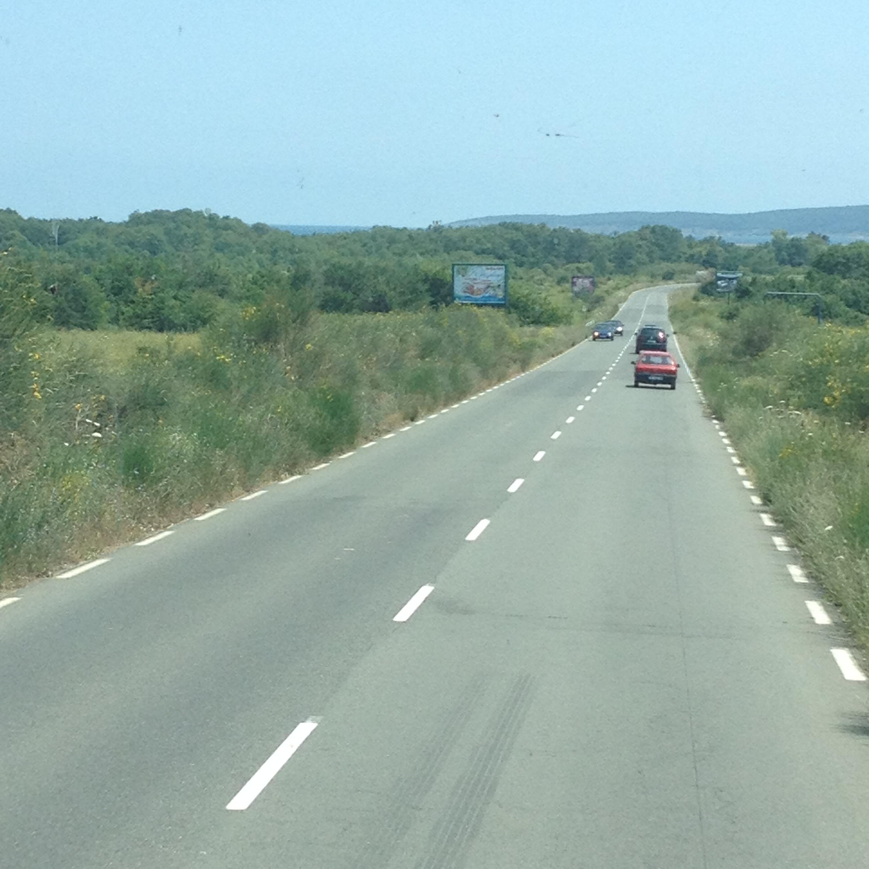 по дороге в Приморско