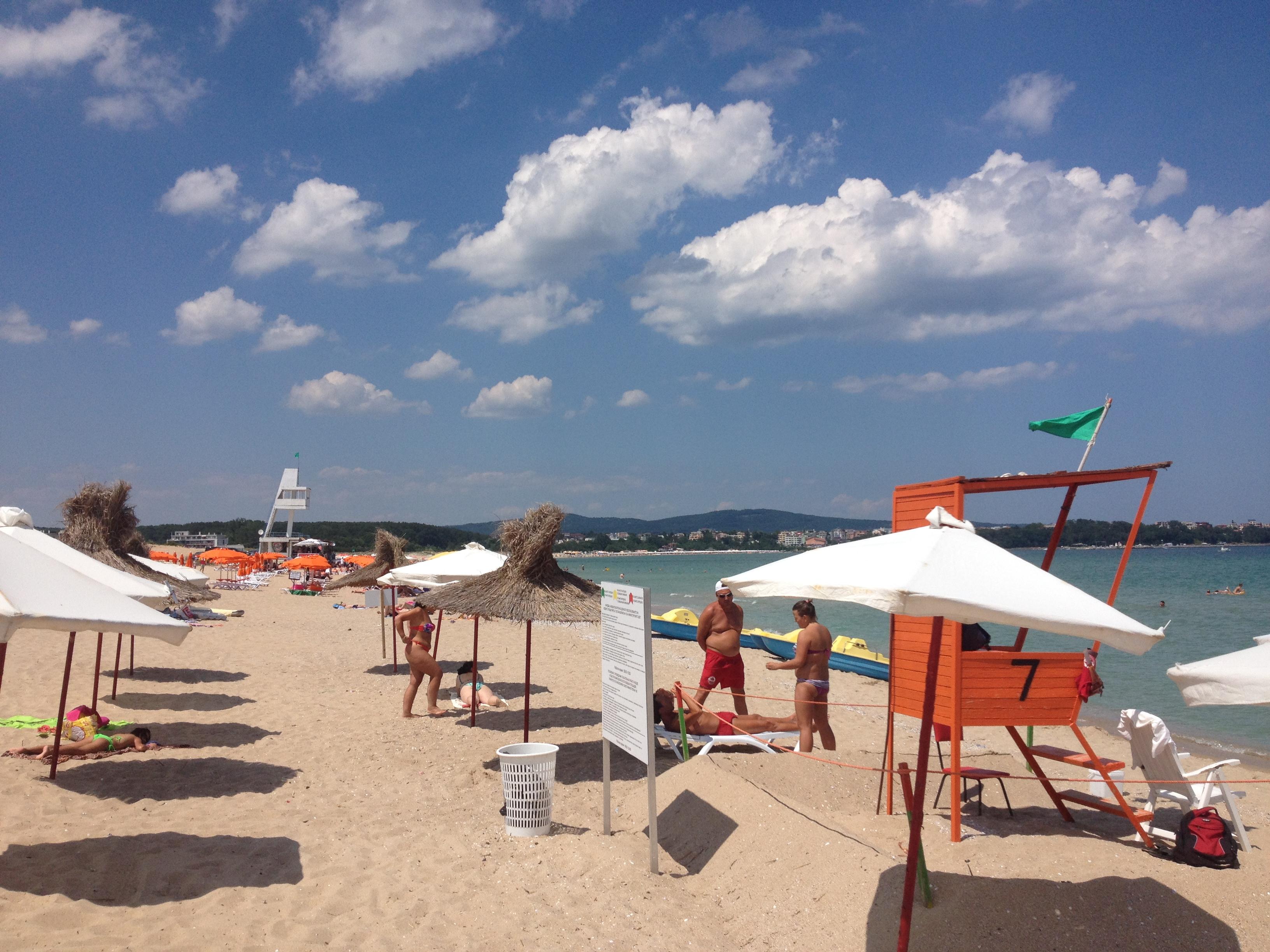 """пляж рядом с лагерем """"Хелиос"""" в Болгарии"""