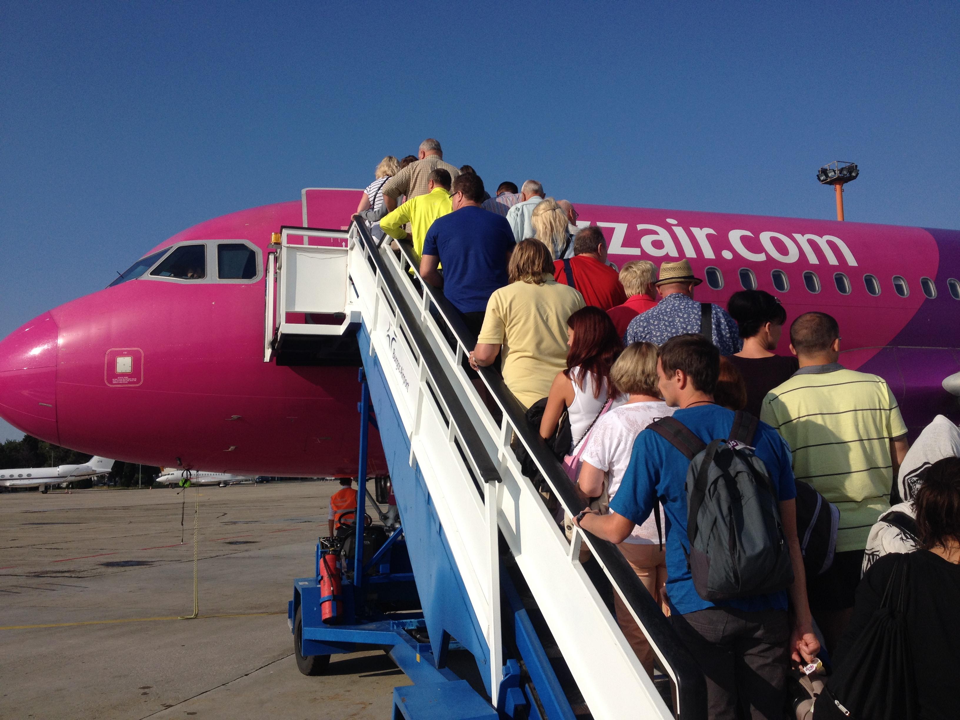 загружаемся на рейс Wizzaair
