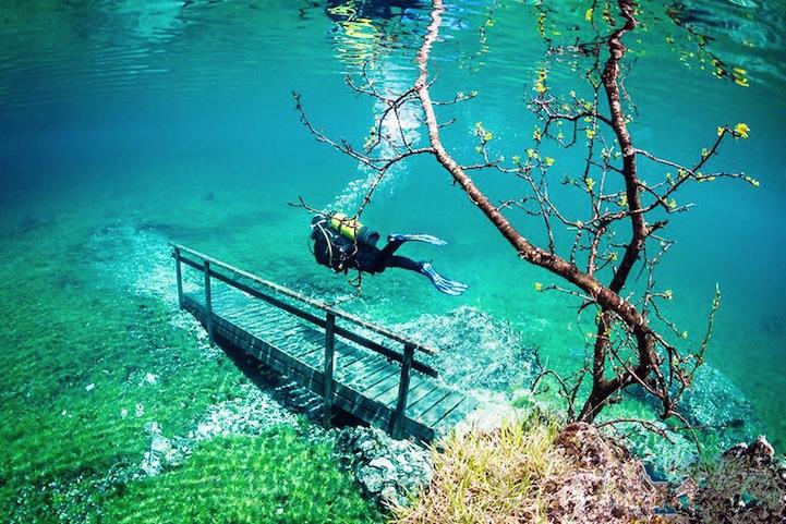 Затопленный парк в Штирии (Австрия)