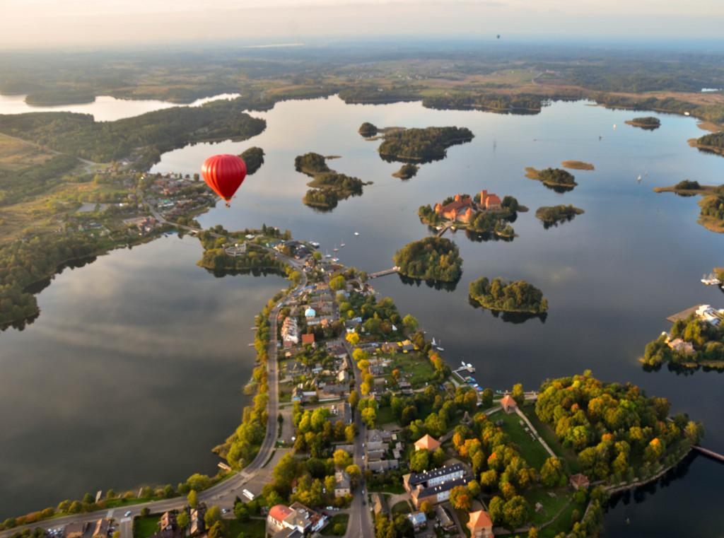 Полет на воздушном шаре над Тракайским Замком (2)