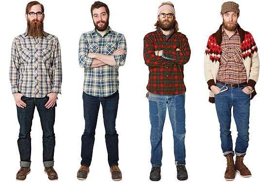 dfe1b76933fdfd9 С чем и как носить мужскую рубашку в клетку мужчине или девушке?