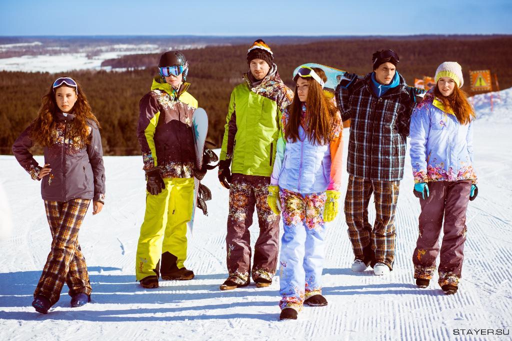 яркая одежда для сноуборда