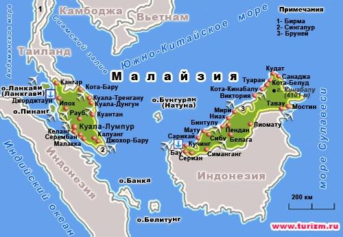 малайзия карта