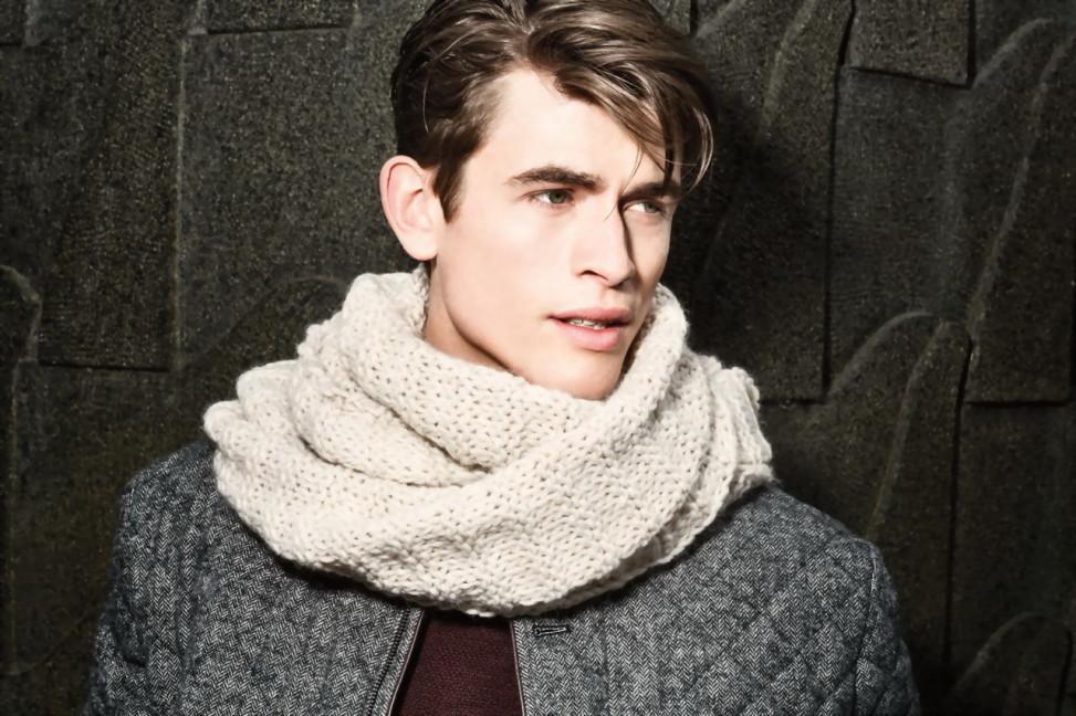 мужской зимний лук