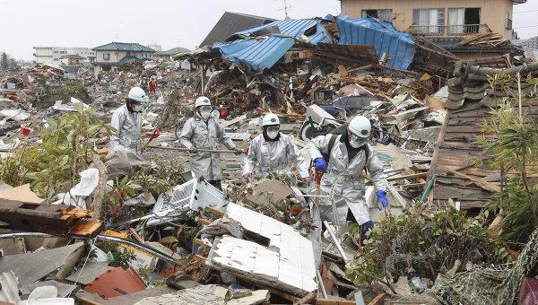 спасатели на Фукусиме