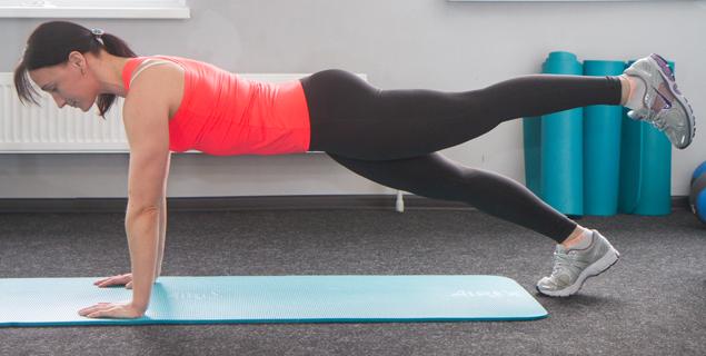 planka s nogoj