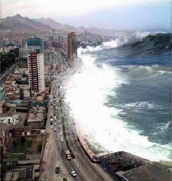 цунами из океана