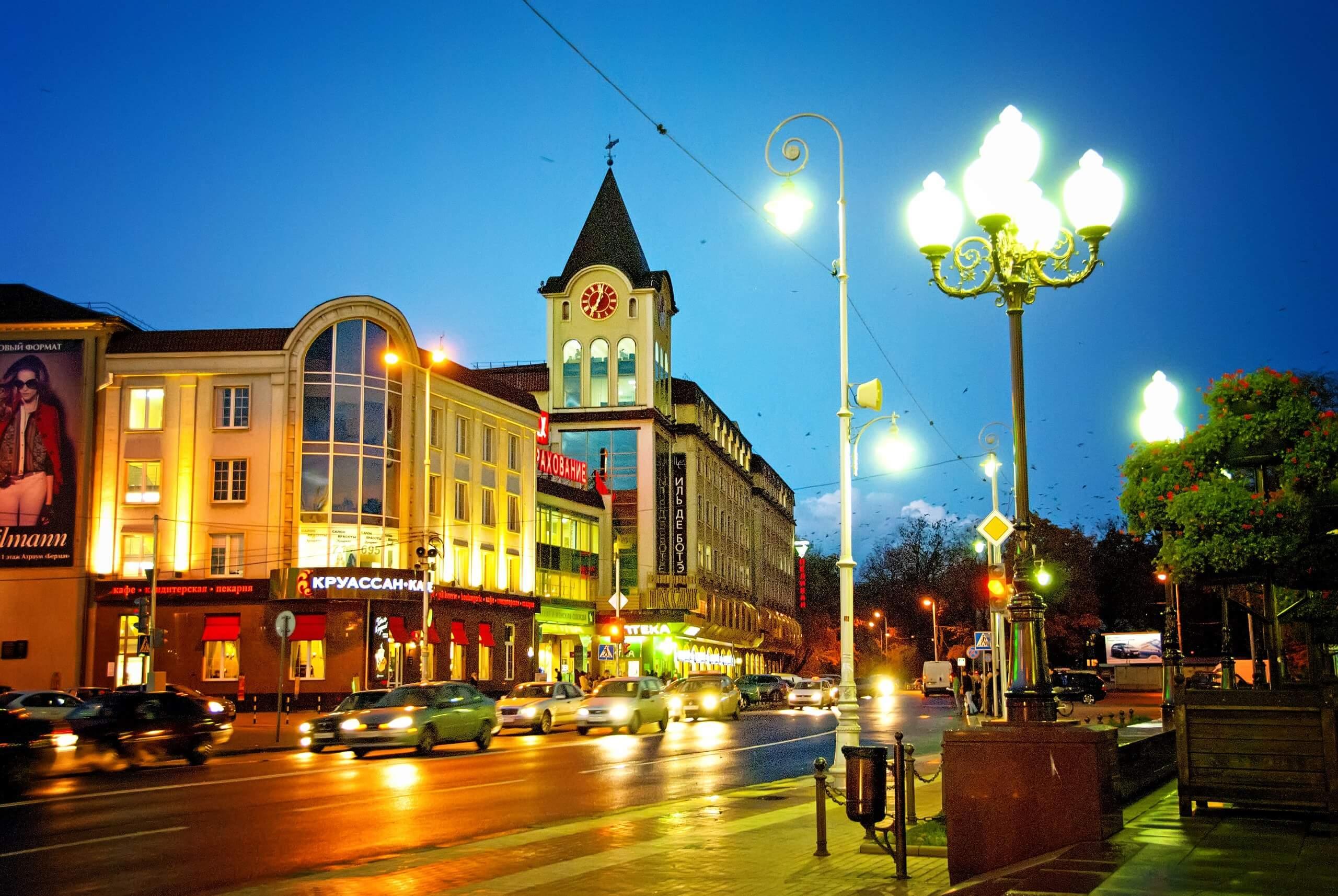 калининград вид на центральную площадь