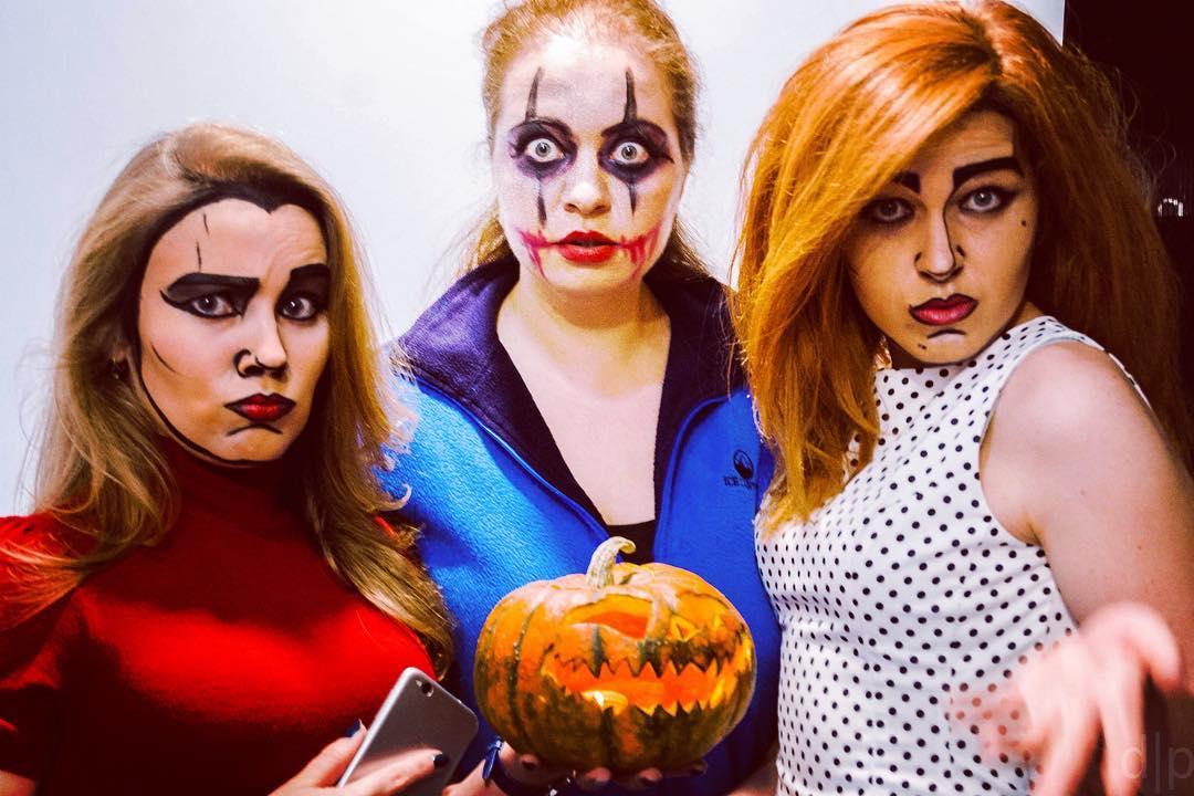 прикольные девушки на хеллоуин