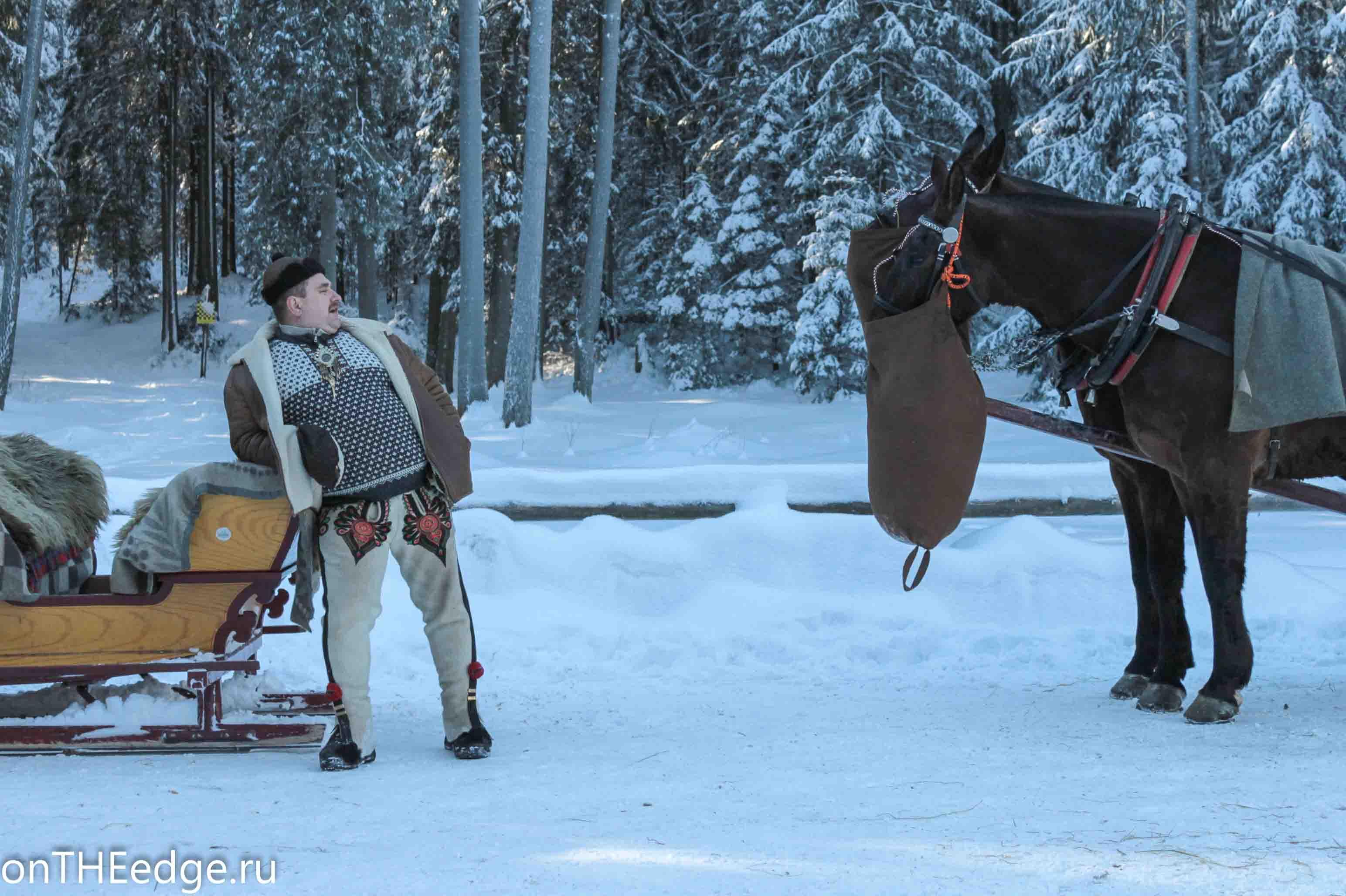 гуцул и лошадь