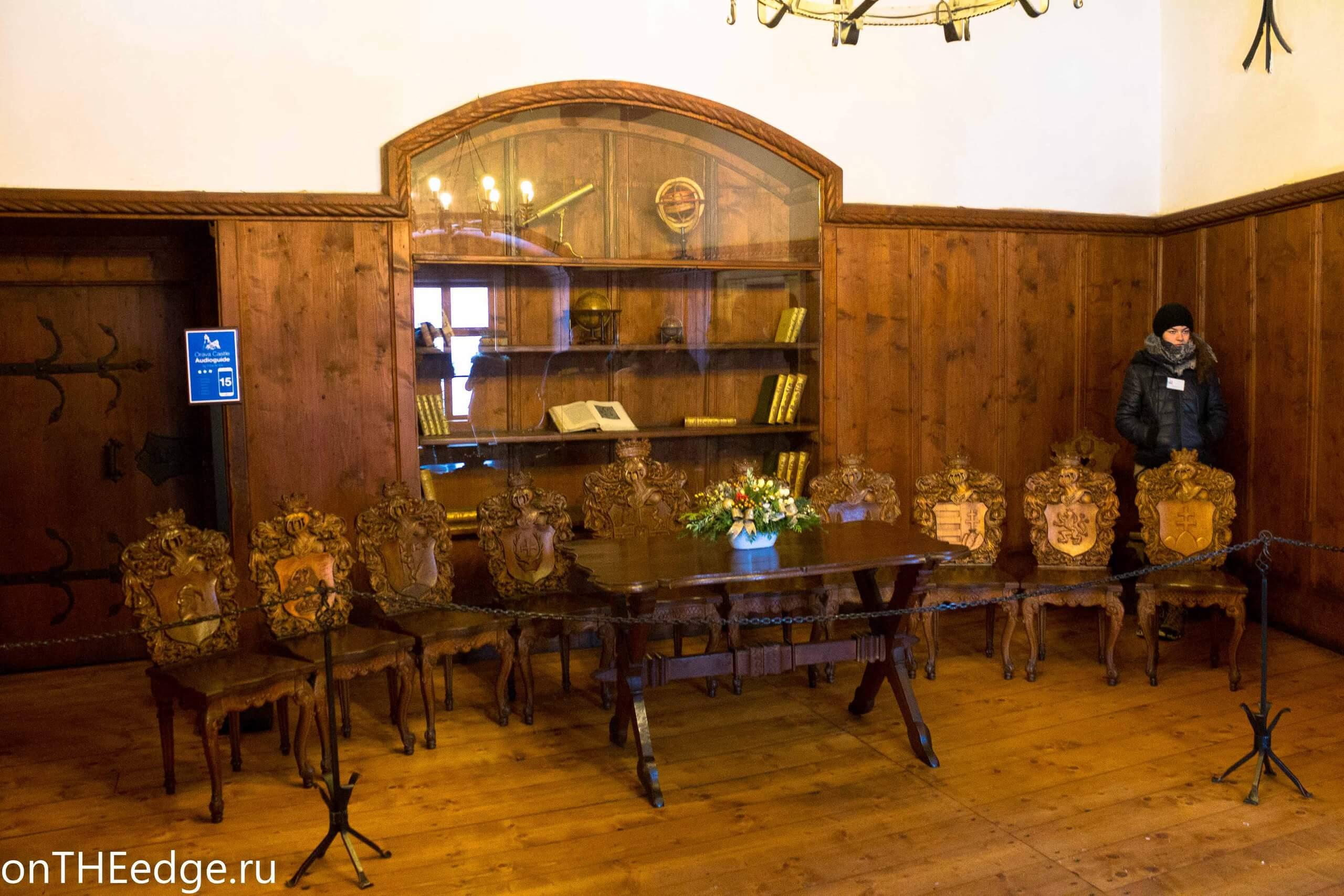 внутри оравского замка в словакии