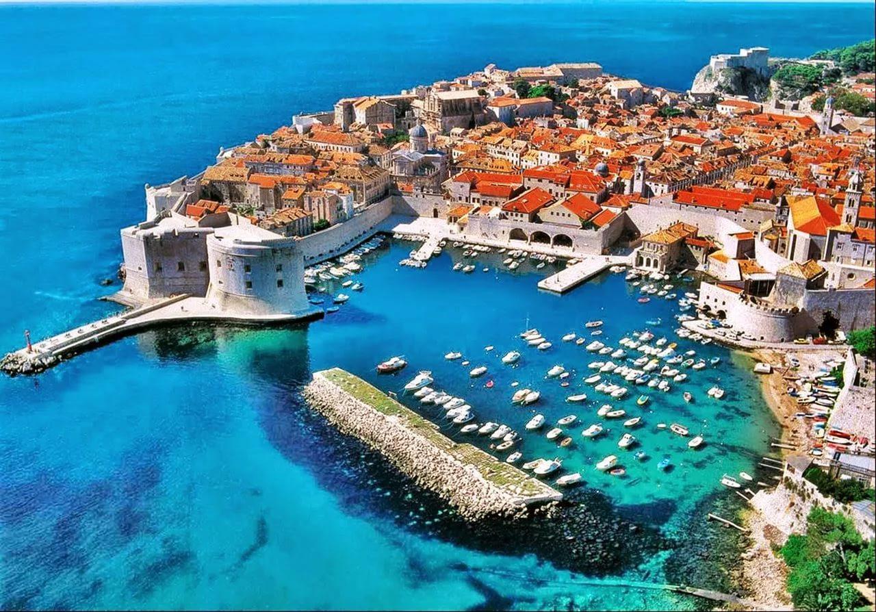 дубровник в хорватии знаменитый вид на гавань