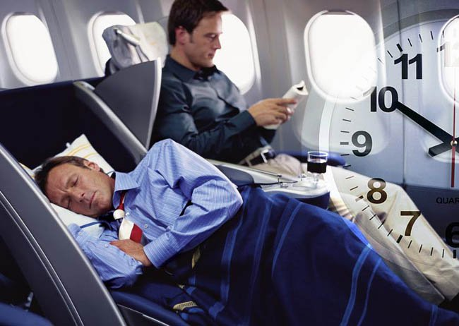 спать в самолете