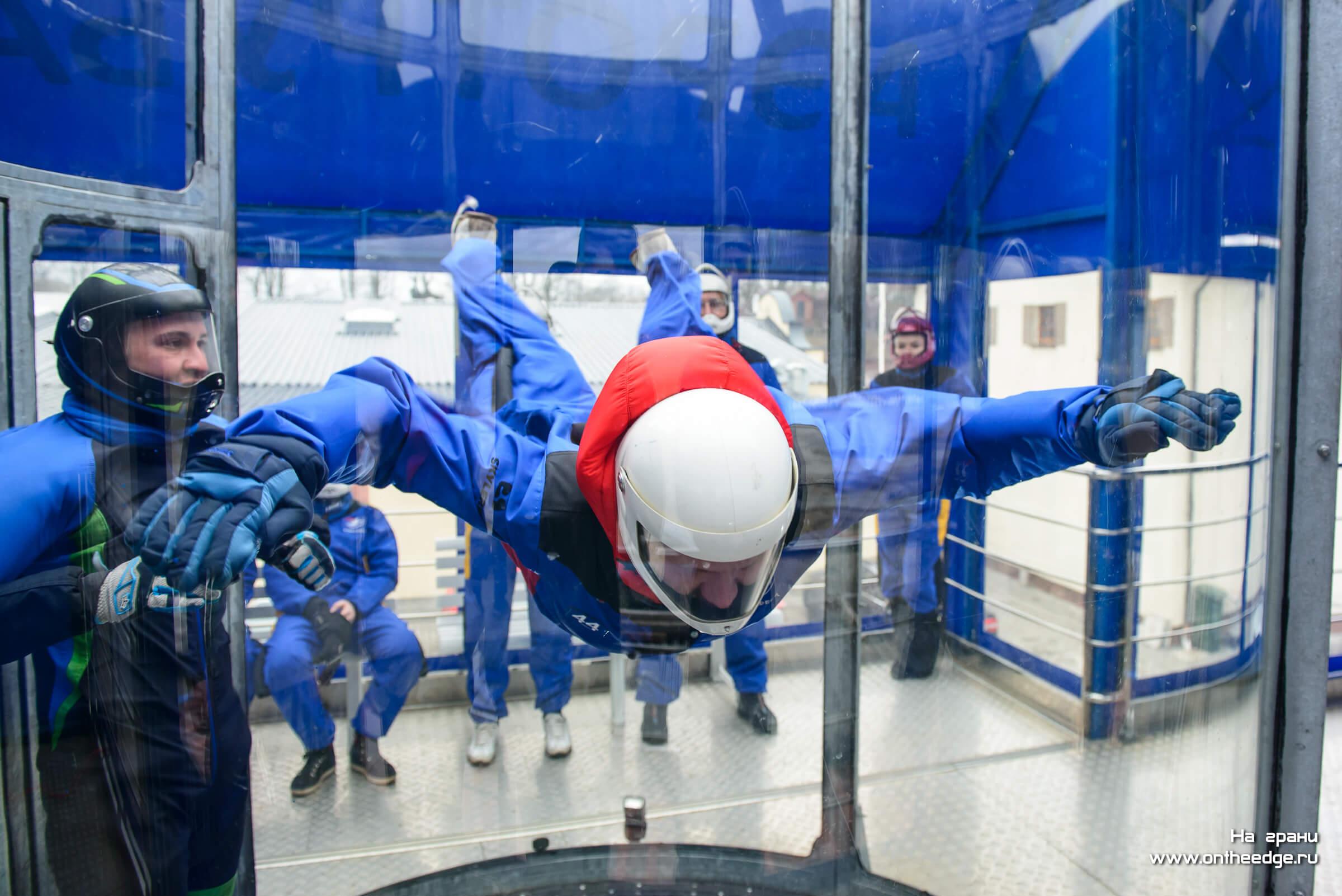 дмитрий пелин летает в аэротрубе в Калининграде