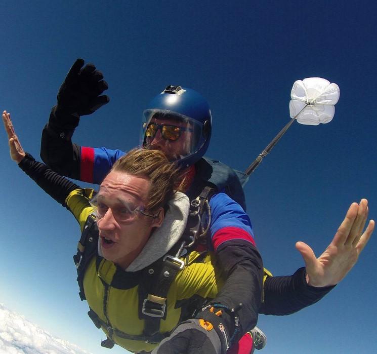 свободное падение с высоты в 4000 метров