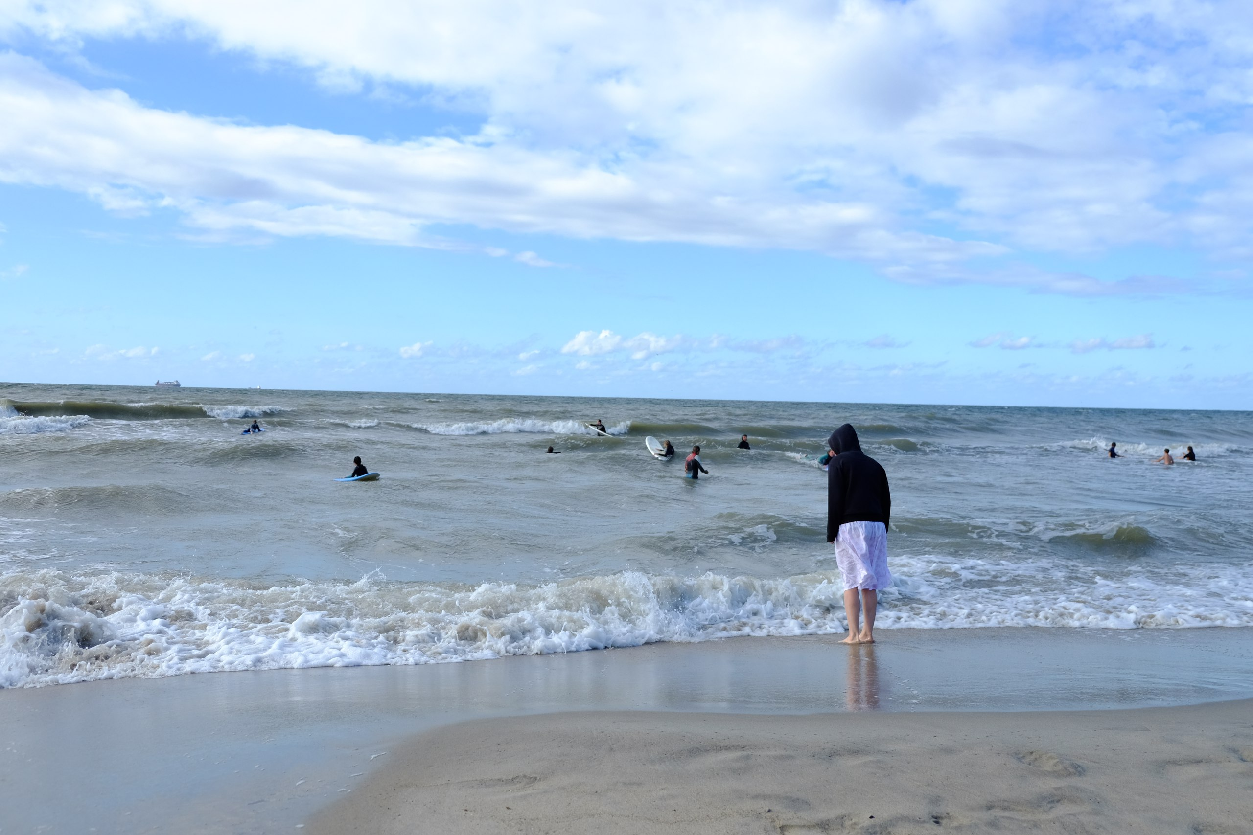 серфинг балтийское море