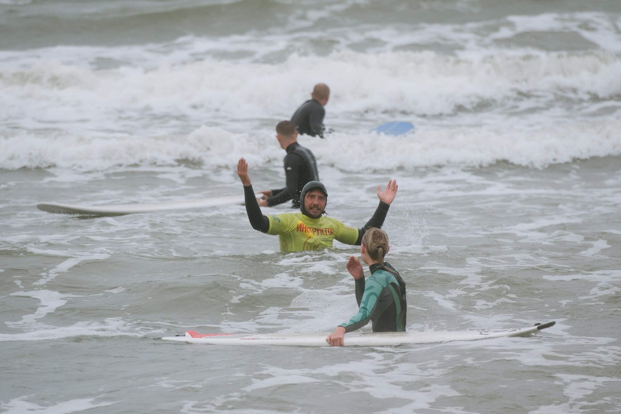 первый раз на серфинге