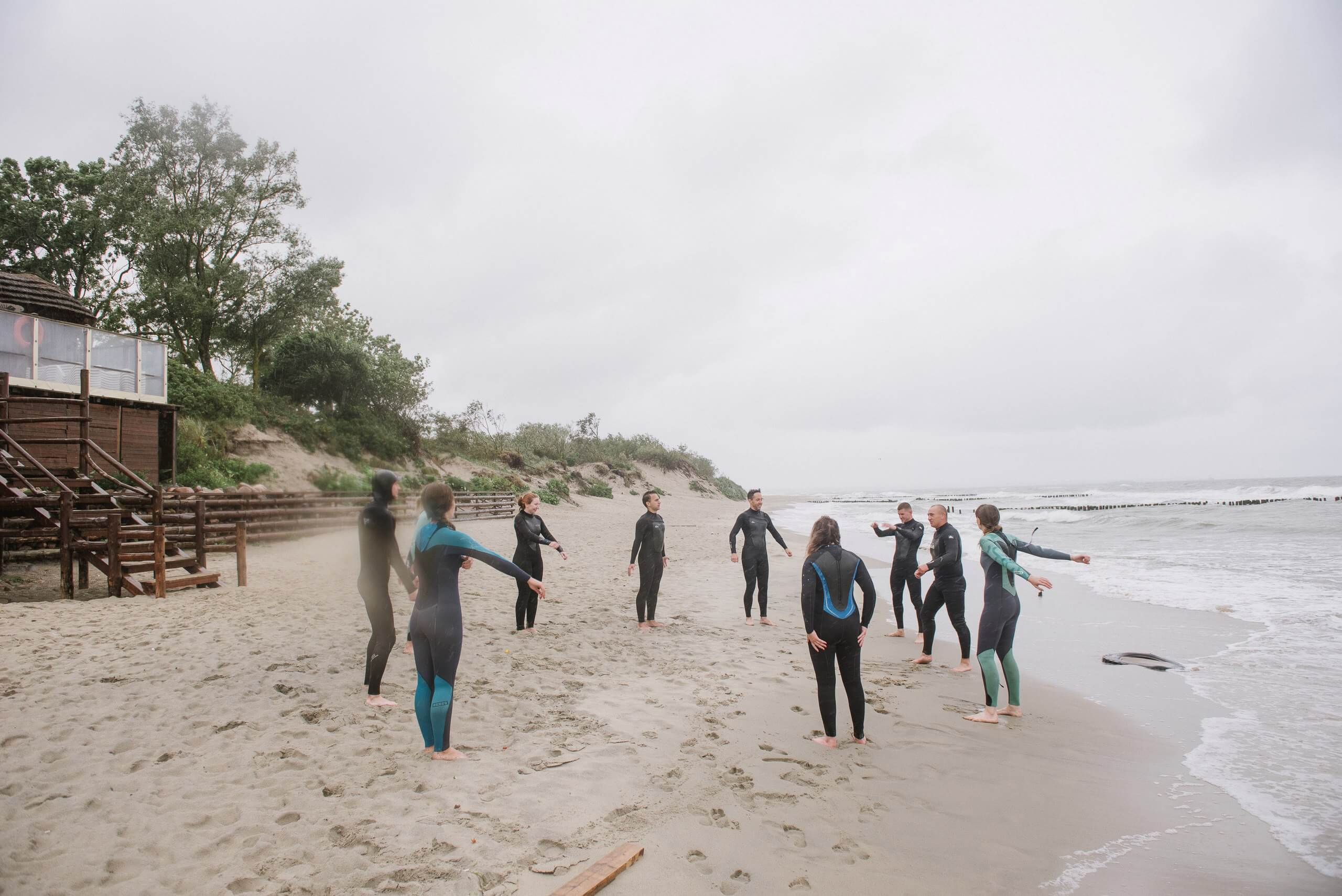 разминка перед серфингом