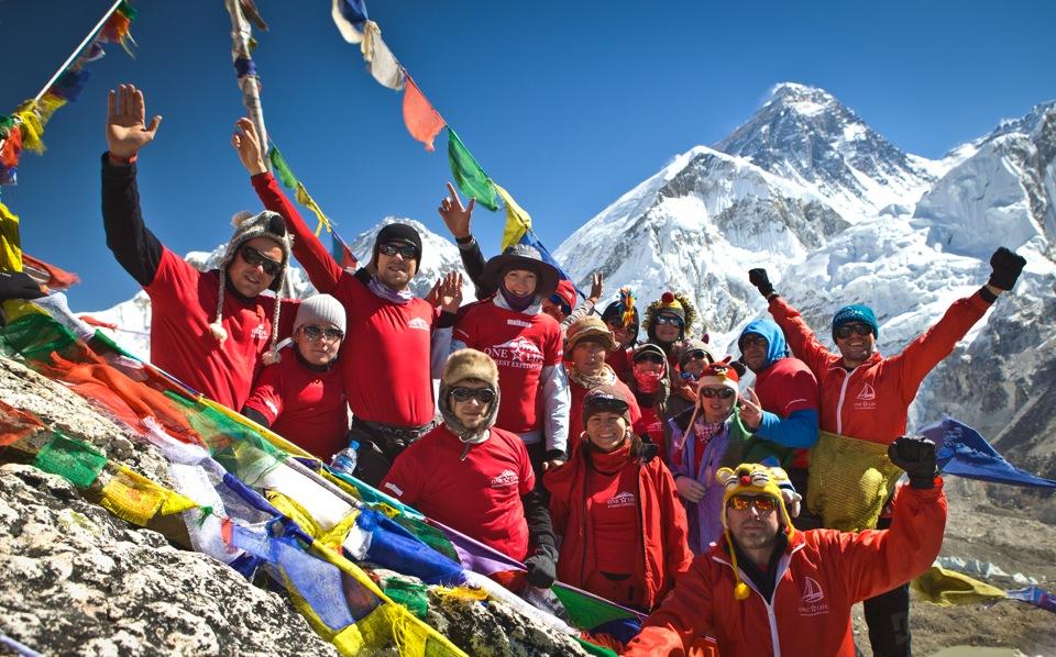 Какая температура на вершине Эвереста и у его подножия?