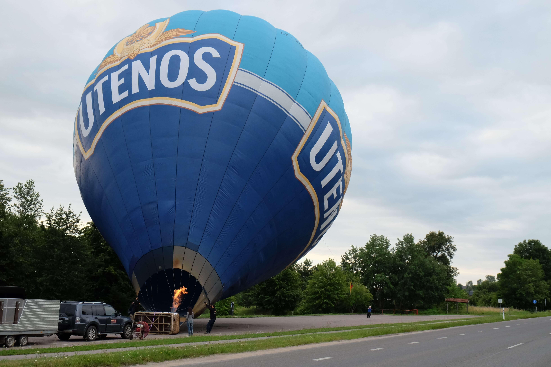 надувание воздушного шара