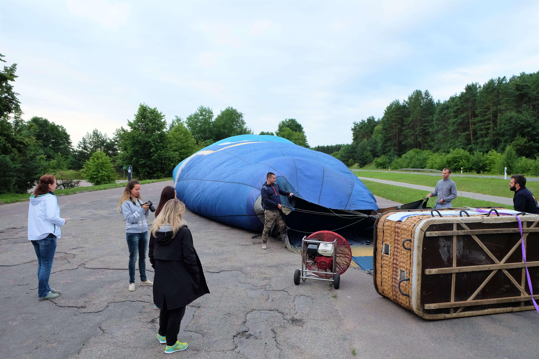 подготовка к полету на воздушном шаре