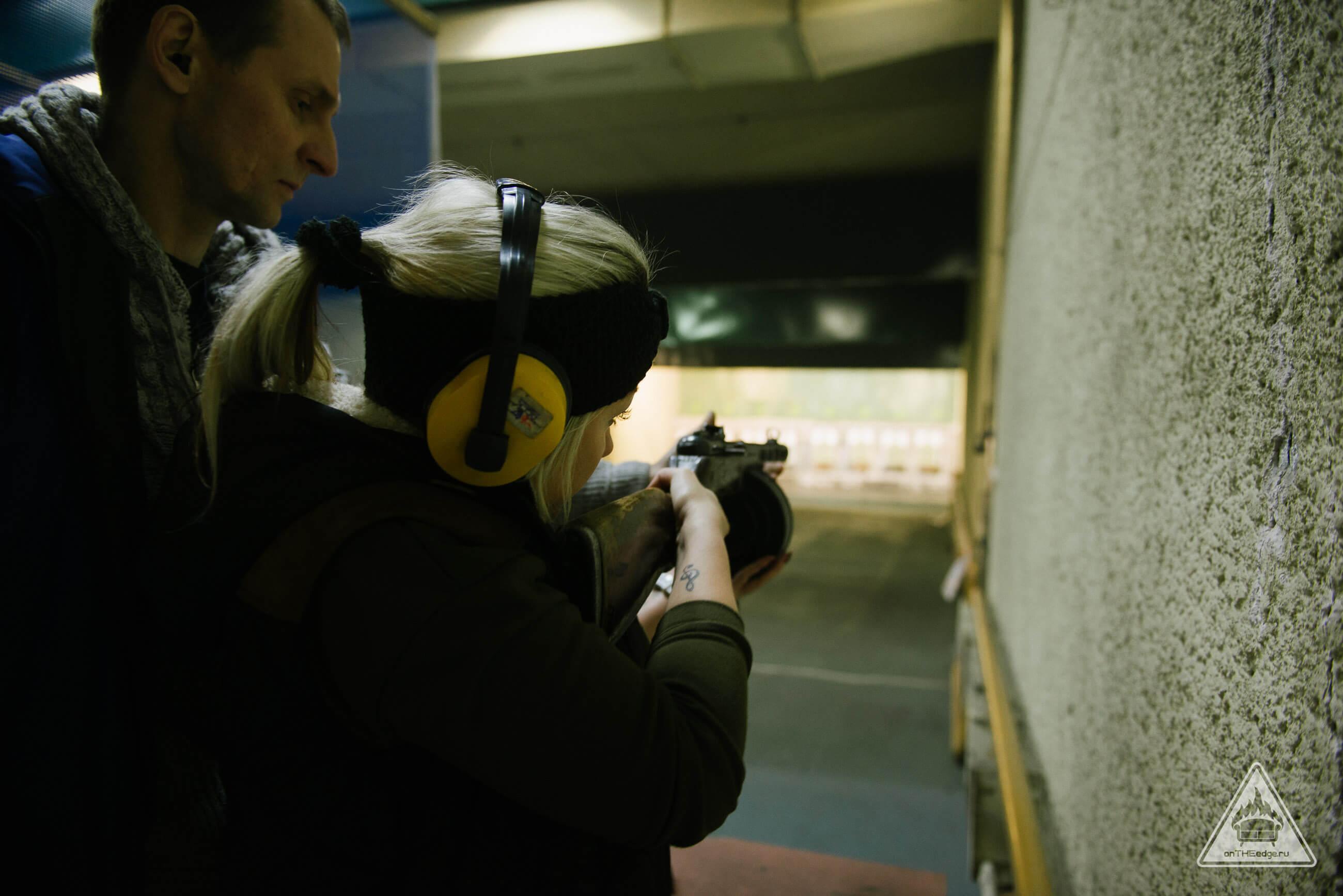 стрельба по мишеням в тире