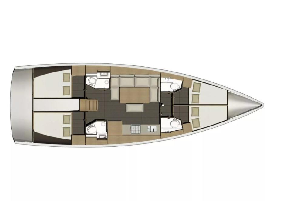 Dufour 460 Grand Large план яхты