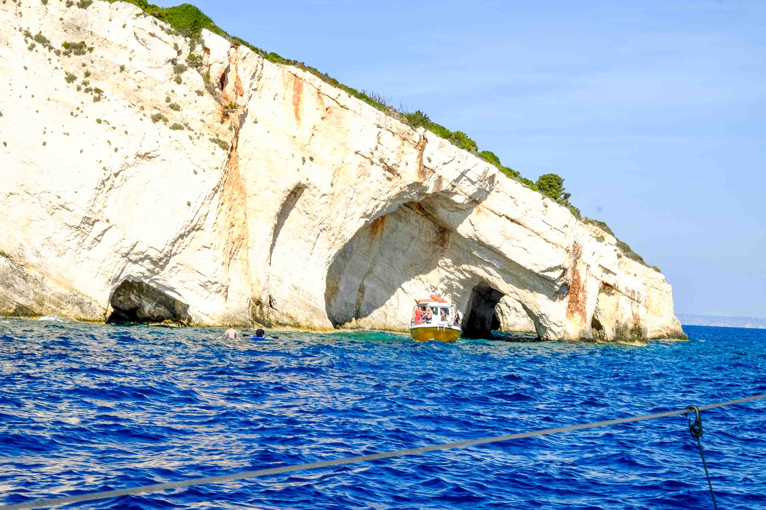 голубые пещеры на закинфе