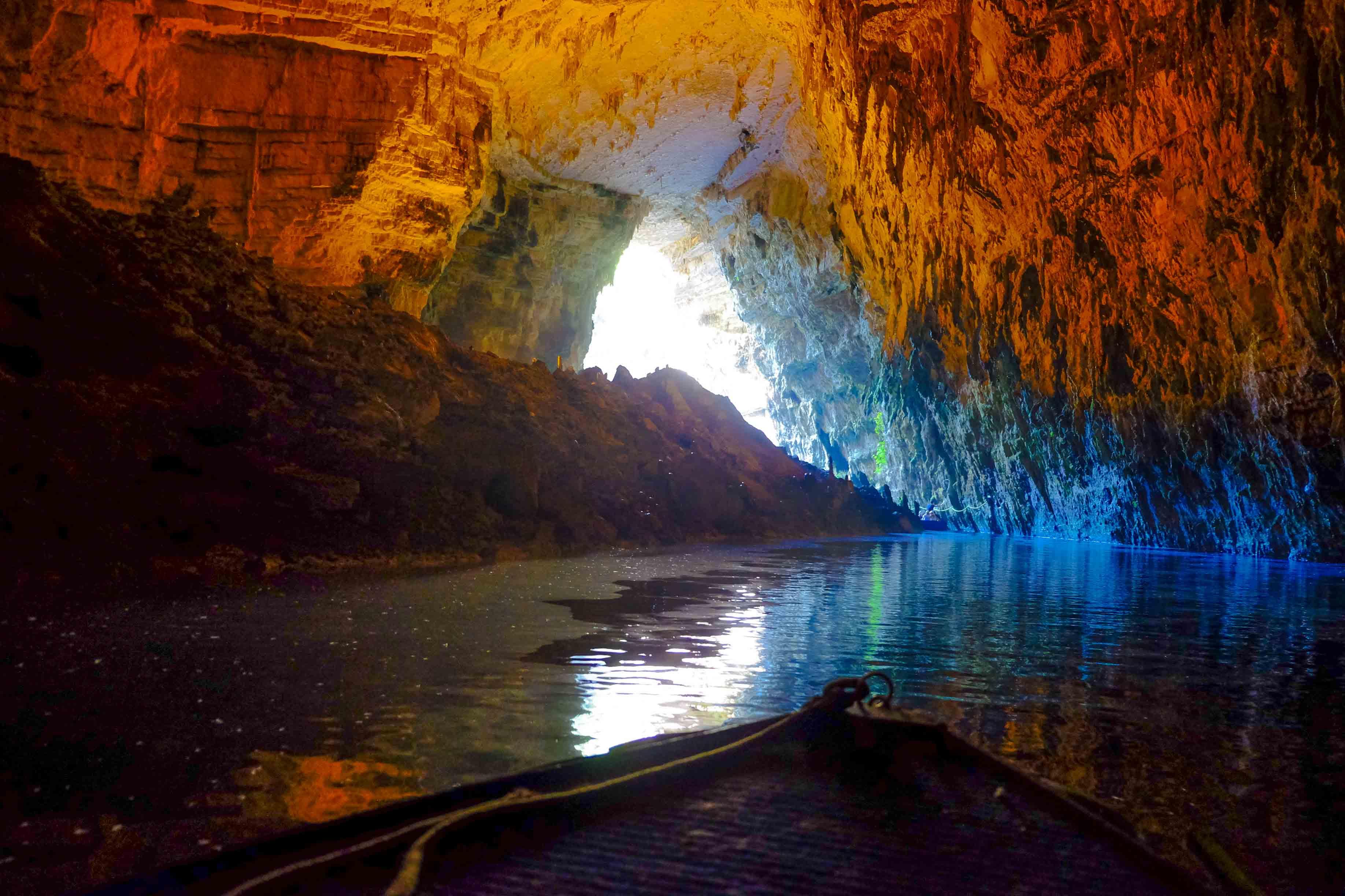 пещера мелиссани на кефалонии