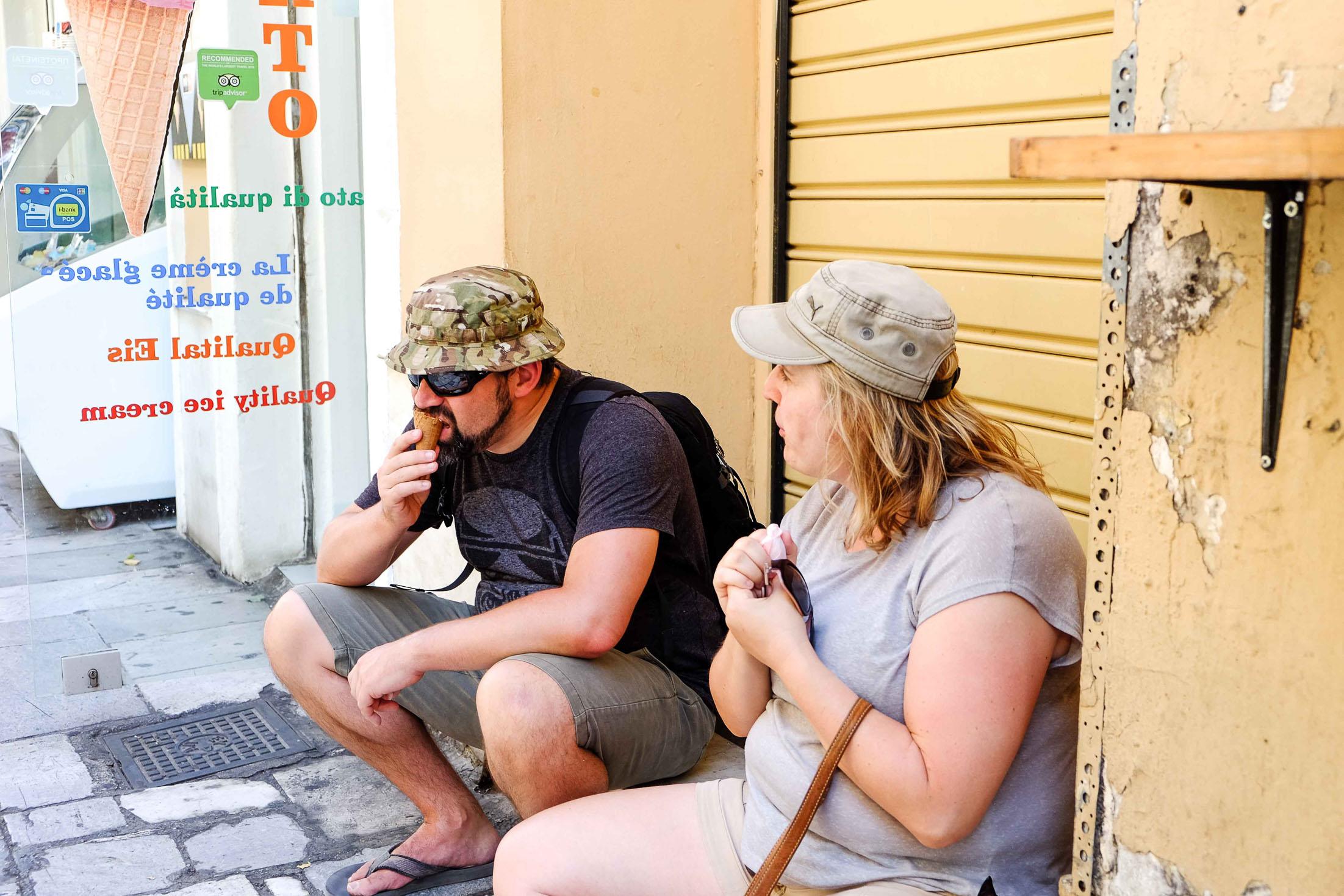 мороженое в Афинах фото