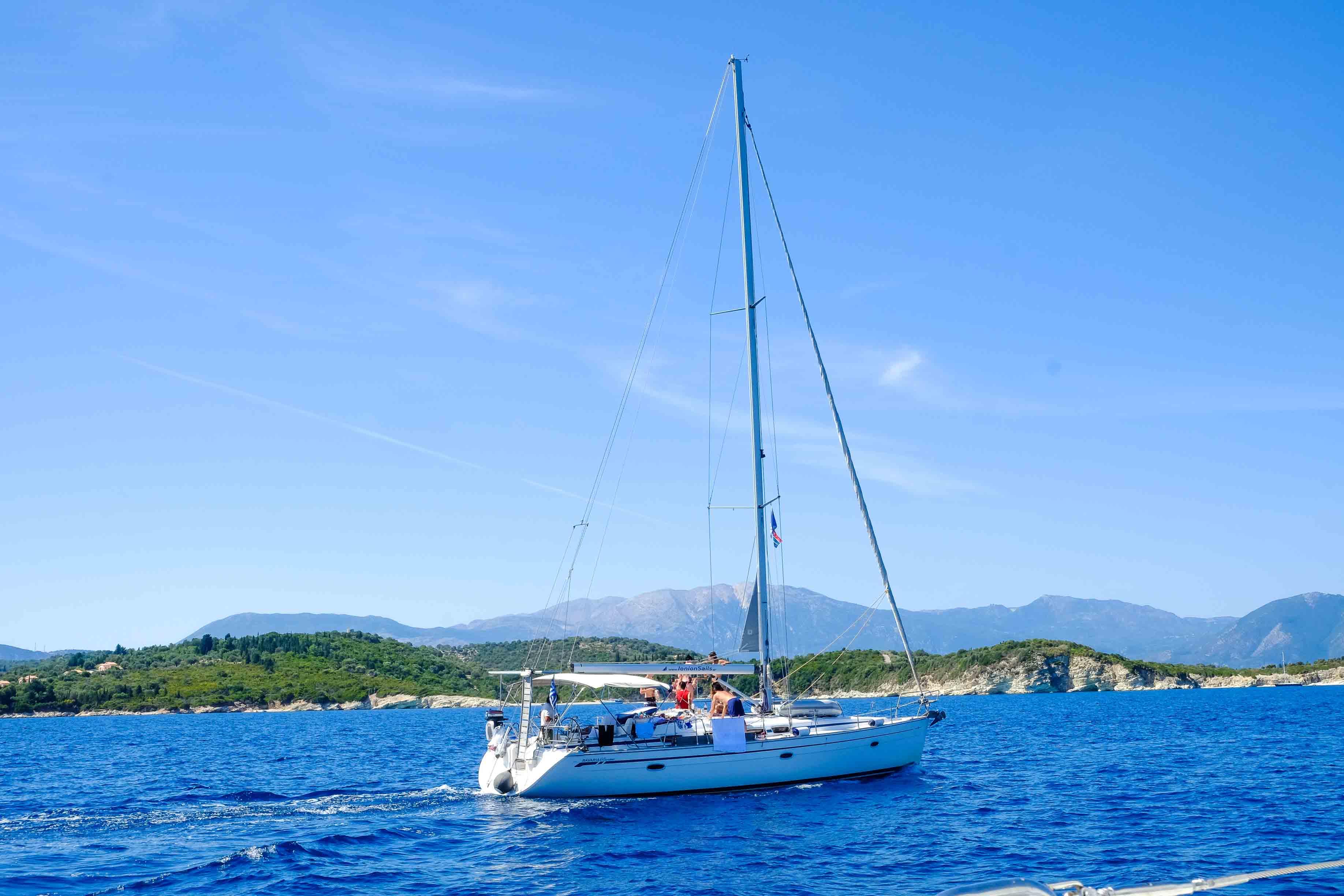 путешествие на яхте по греции фото
